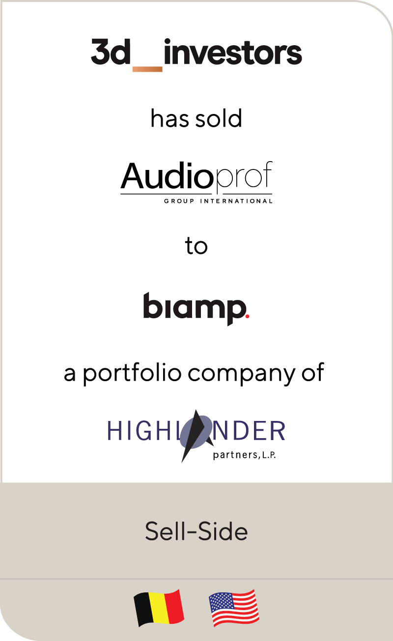 3d investors has sold Audioprof Group International to Biamp Systems, a portfolio company of Highlander Partners