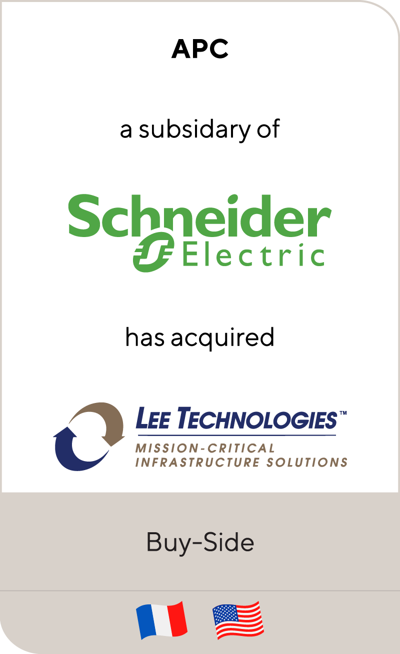 APC Schneider Electric Lee Technologies 2011