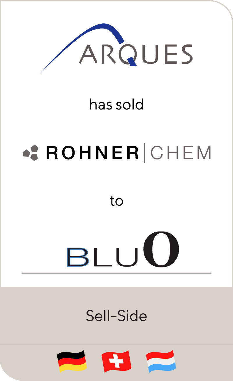 ARQUES has sold Rohner to BluO