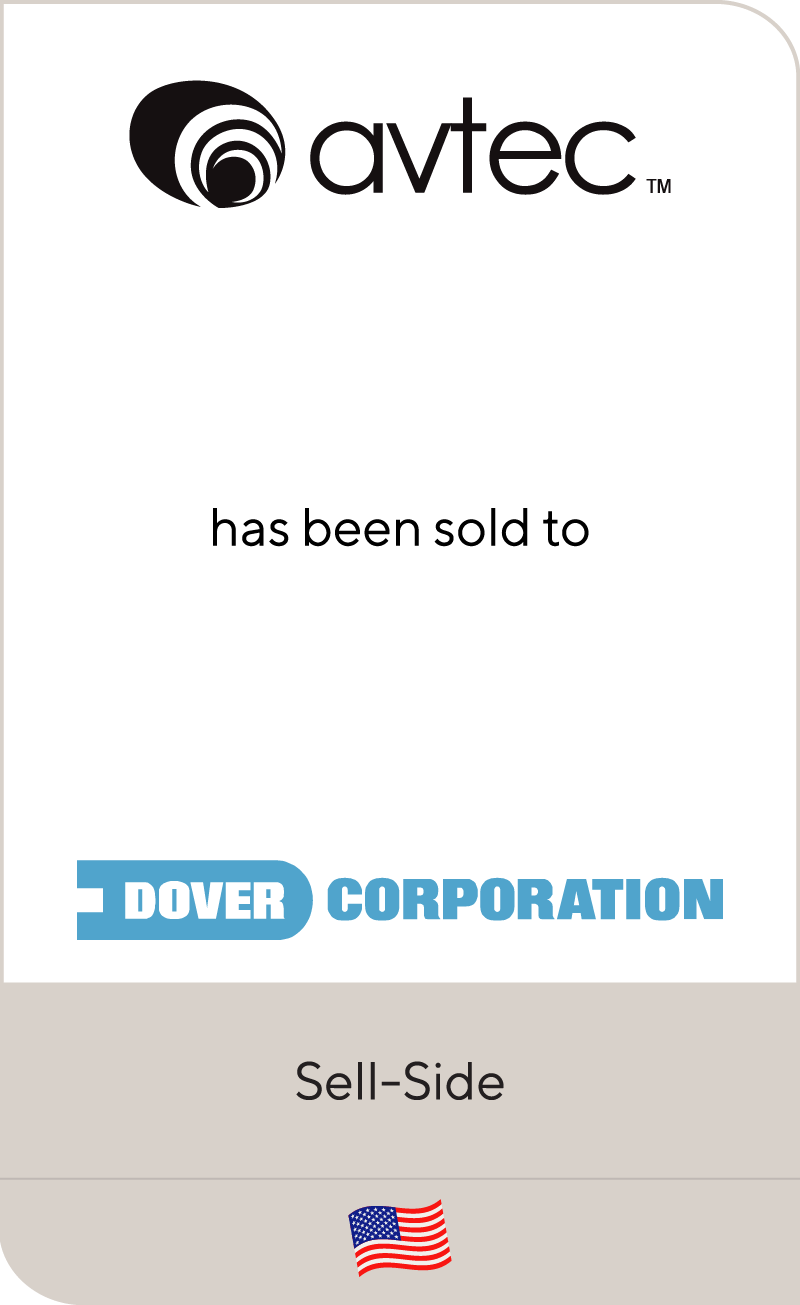 AVTEC Industries has been sold to Dover Corporation