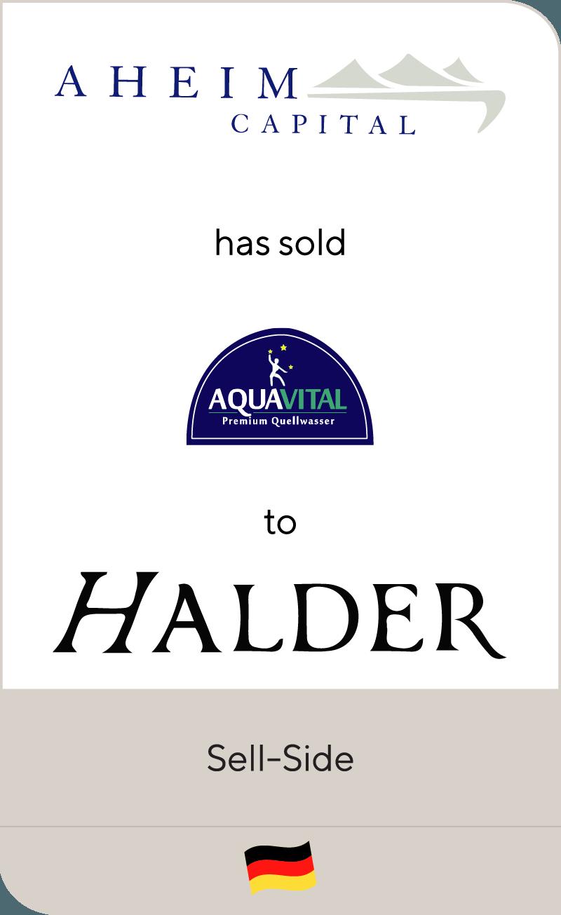 Aheim Capital has sold Aqua Vital Group to Halder