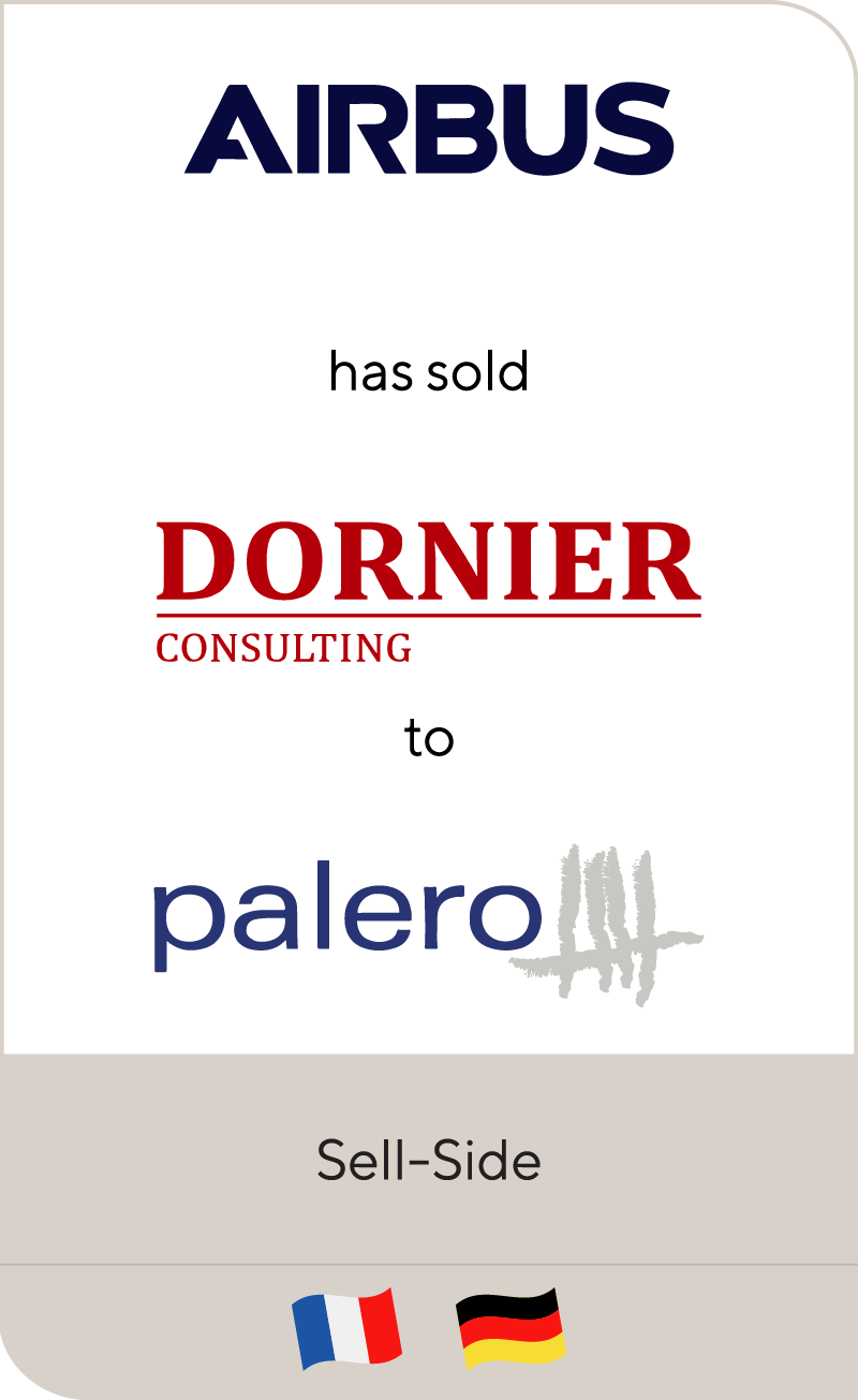 Airbus has sold Dornier Consulting to Palero