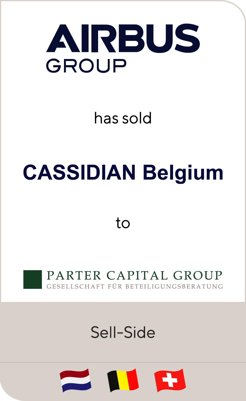 Airbus Defence and Space has sold Cassidian Belgium to Parter Capital Group
