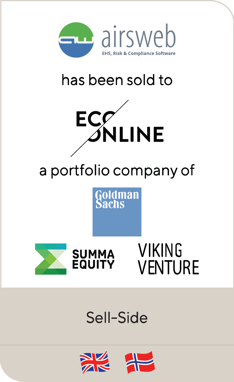 Airsweb Ecooline Goldman Sachs Summa Equity Viking Venture 2020