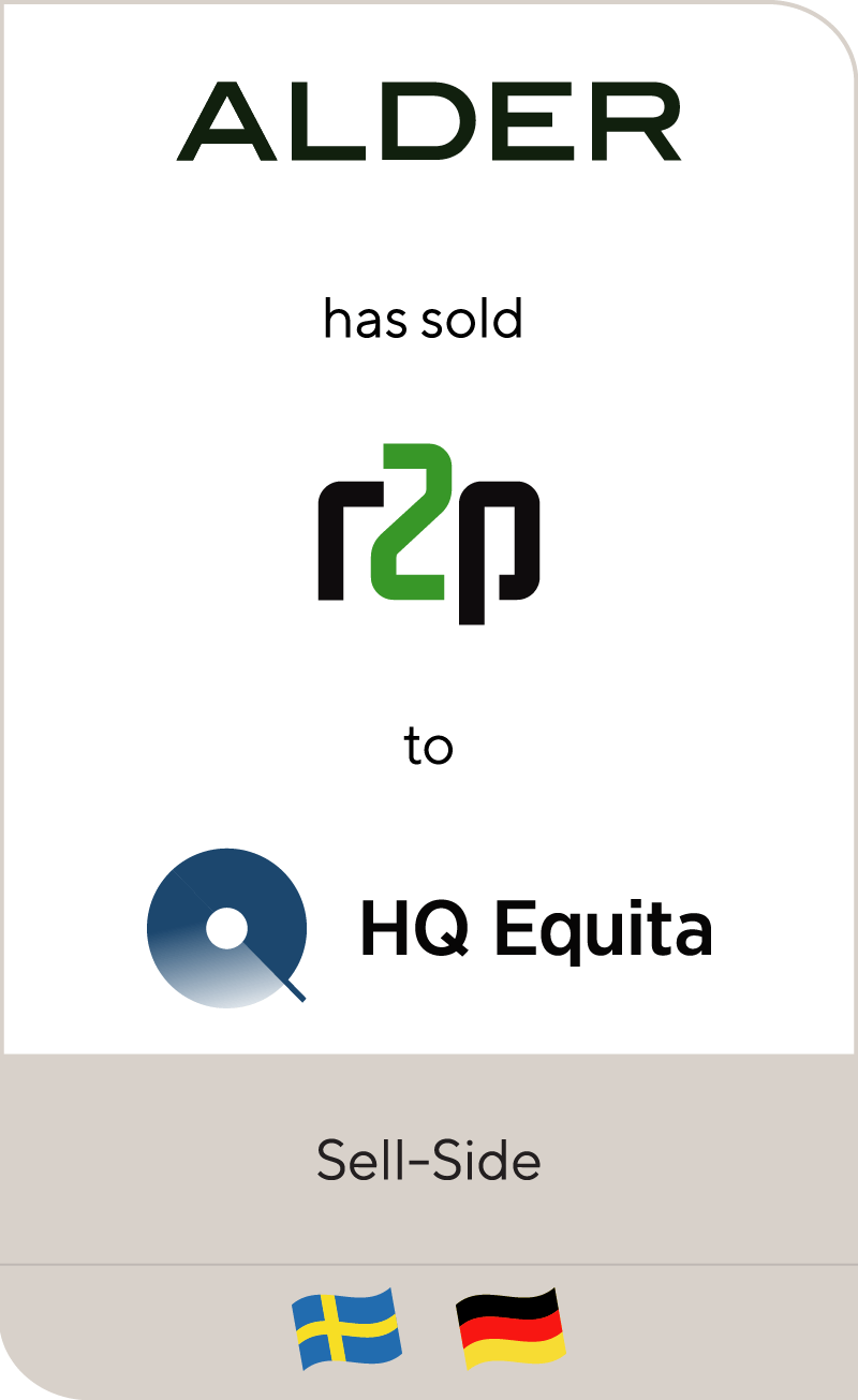 Alder has sold r2p to HQ Equita