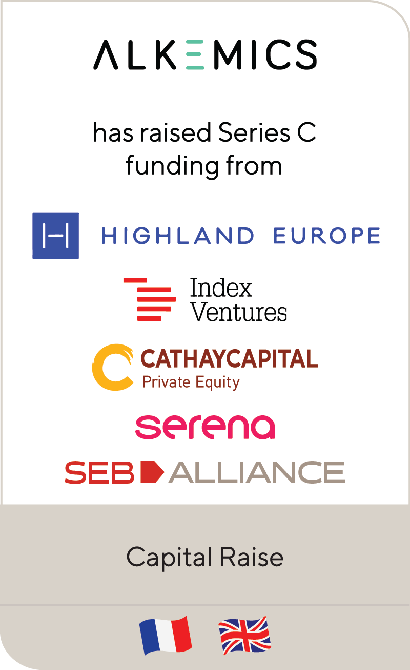 Alkemics Highland Europre Index Ventures Cathay Captial Serena Seb Alliance 2020