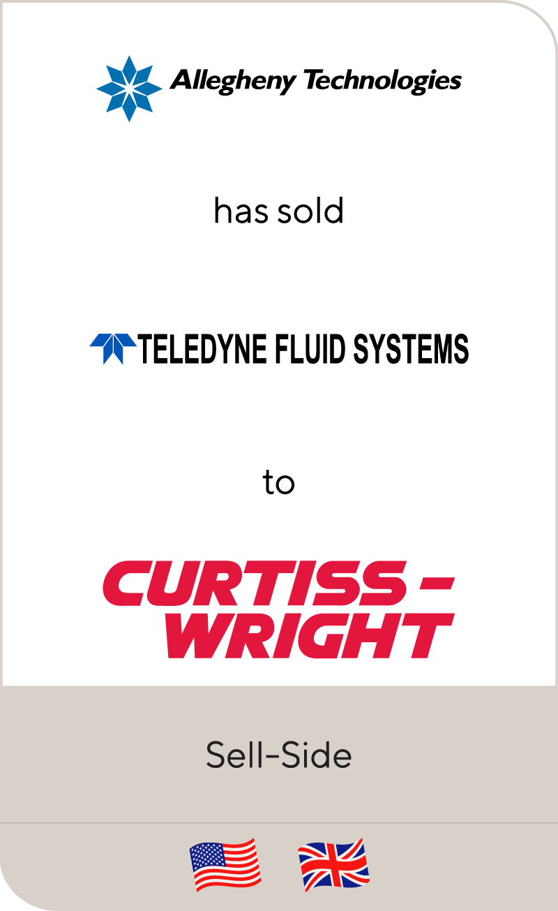 Allegheny Teledyne has sold Teledyne Fluid Systems to Curtiss Wright and the Barnes Group