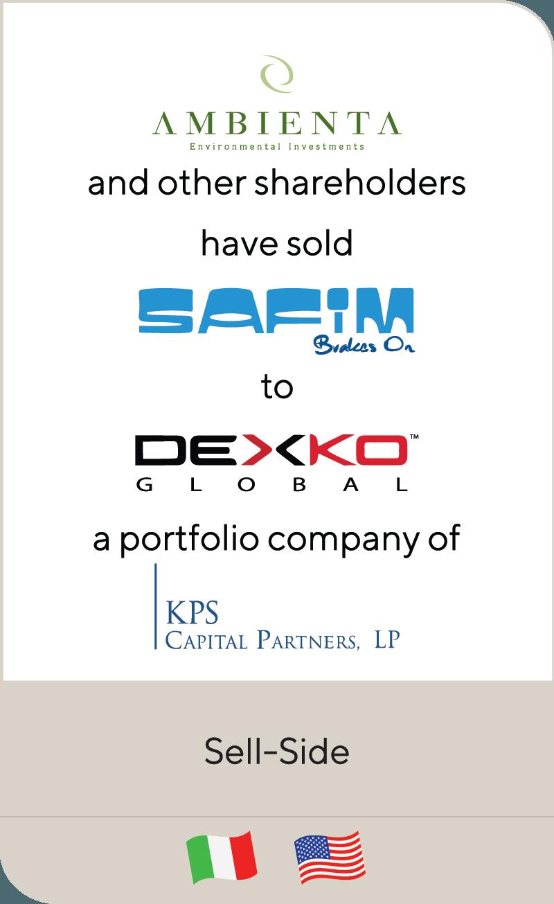 Ambienta SGR has sold Safim to DexKo
