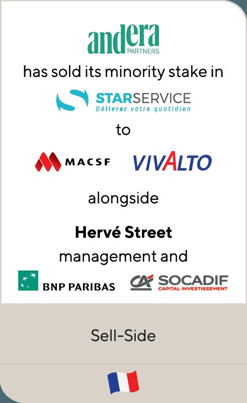 Andera Star Service MACSF Vivalto BNP CA Scocadif 2019