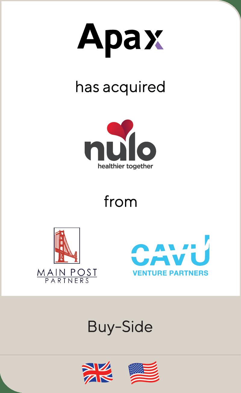 Apax Nulo Main Post Partners CAVU Venture Partners 2021