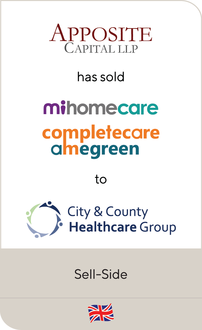 Apposite Capital MiHomeCare Completecare Amegreen City & County Healthcare Group 2021