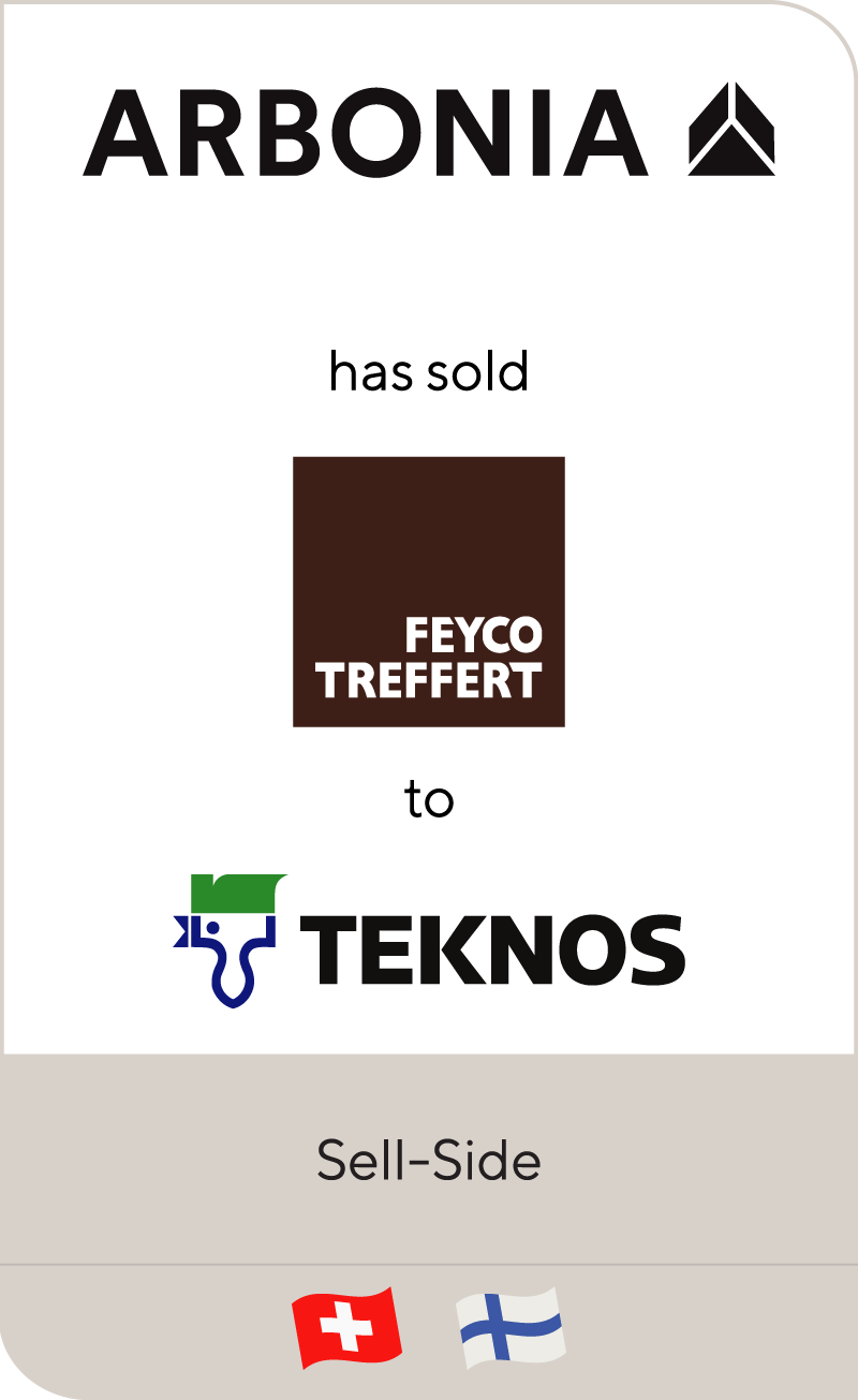 Swiss Arbonia has sold Feyco Treffert to Teknos Group