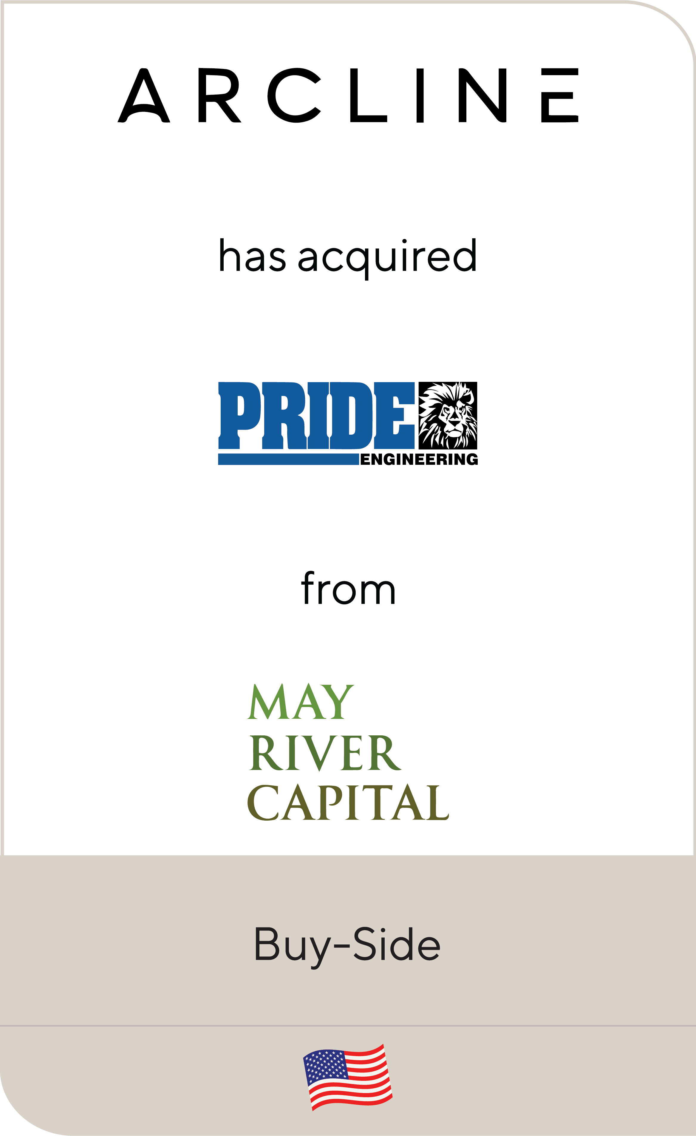 Arcline Investment Partners Pride Engineering May River Capital 2019