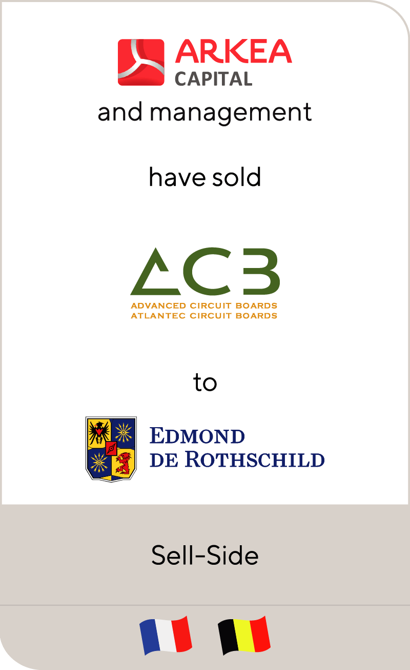 Arkea Capital Investissement and Eurefi have sold ACB Group to Edmond de Rothschild Investment Partners