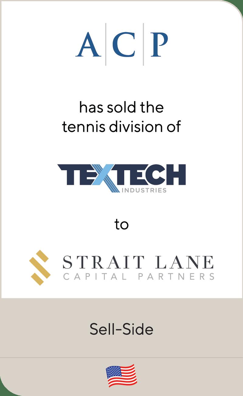 Arlington Capital Partners TexTech Industries Straight Lane Capital Partners 2021