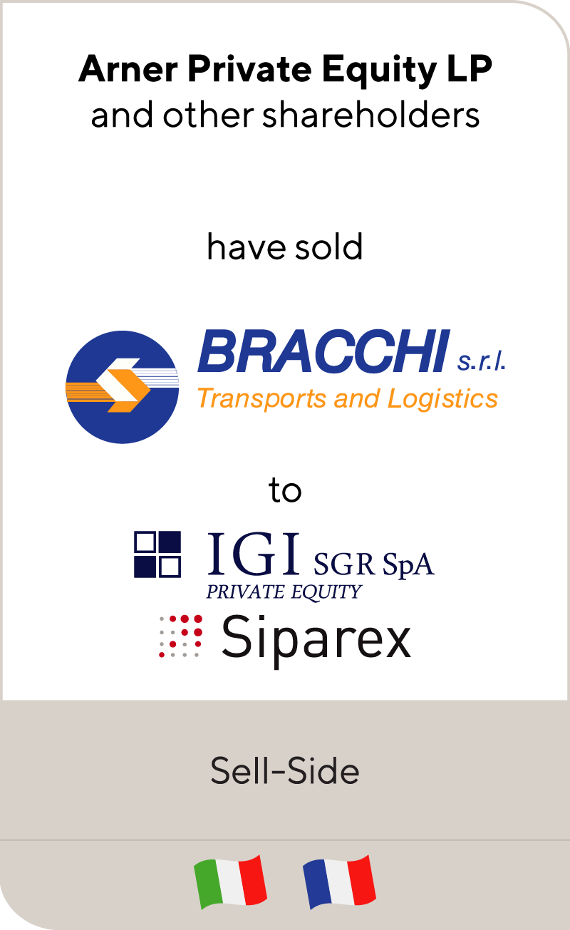 Arner Private Equity has sold Bracchi to IGI and Siparex