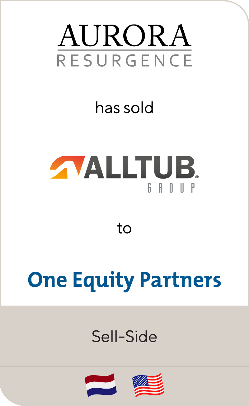 Aurora Resurgence has sold Alltub to One Equity Partners