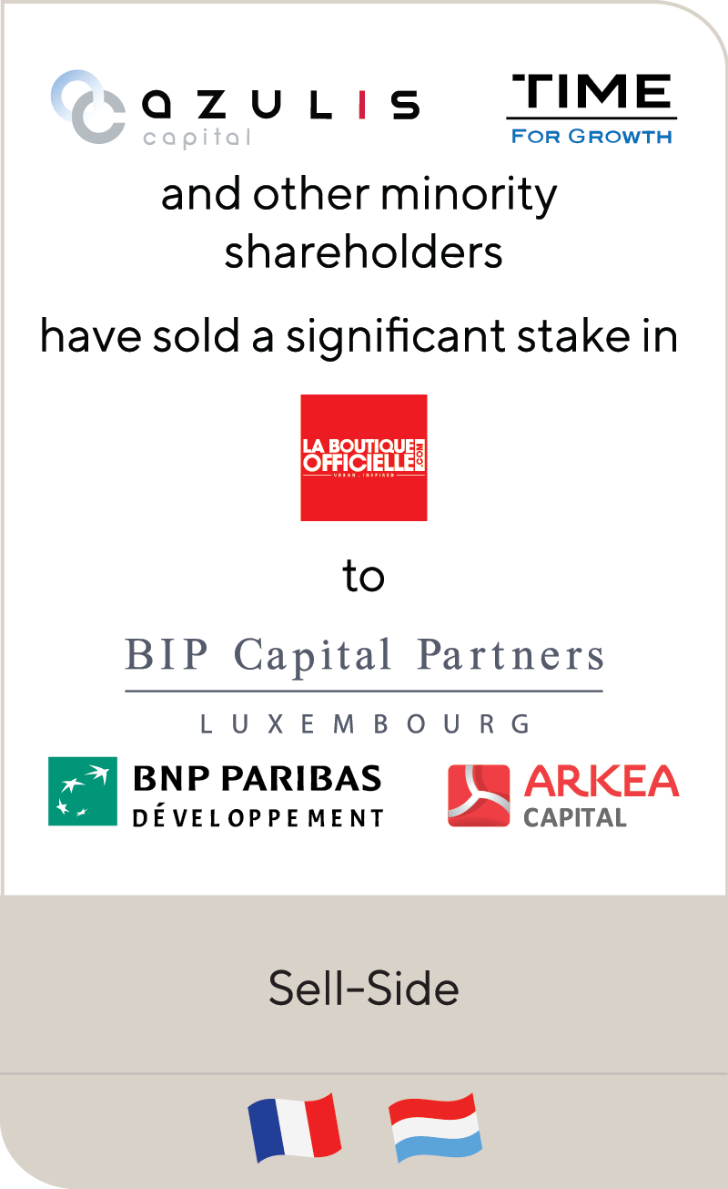 Azulis TIME LA Boutique BIP Capital BNP Arkea 2020
