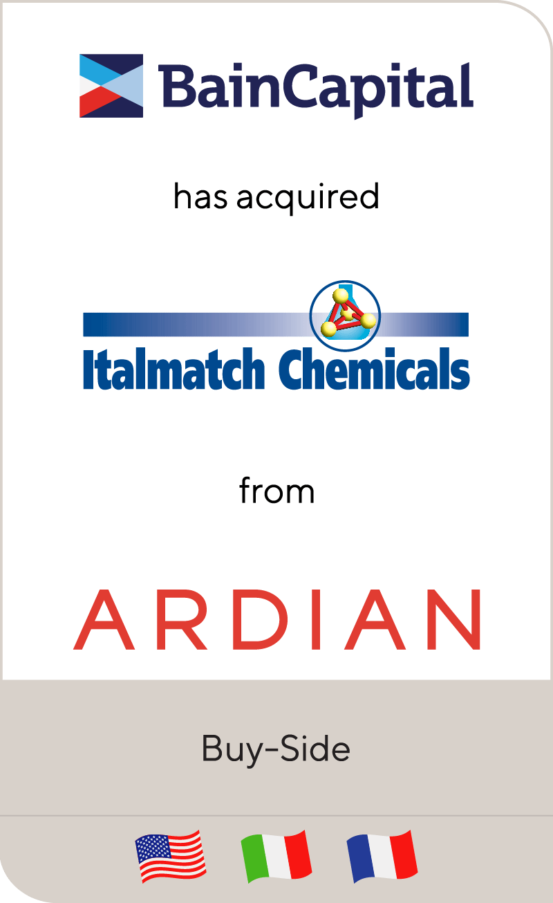 Bain Capital has acquired Italmatch Chemicals from Ardian