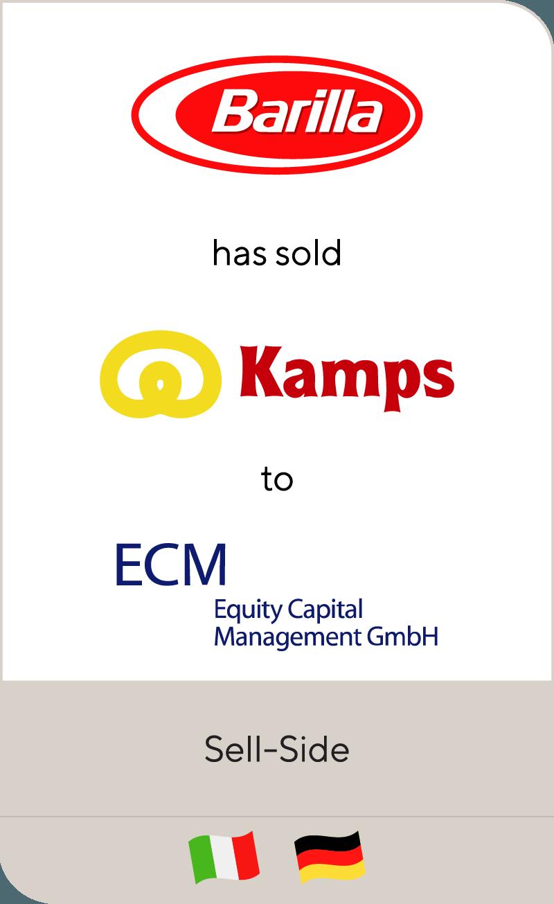 Barilla has sold Kamps to ECM