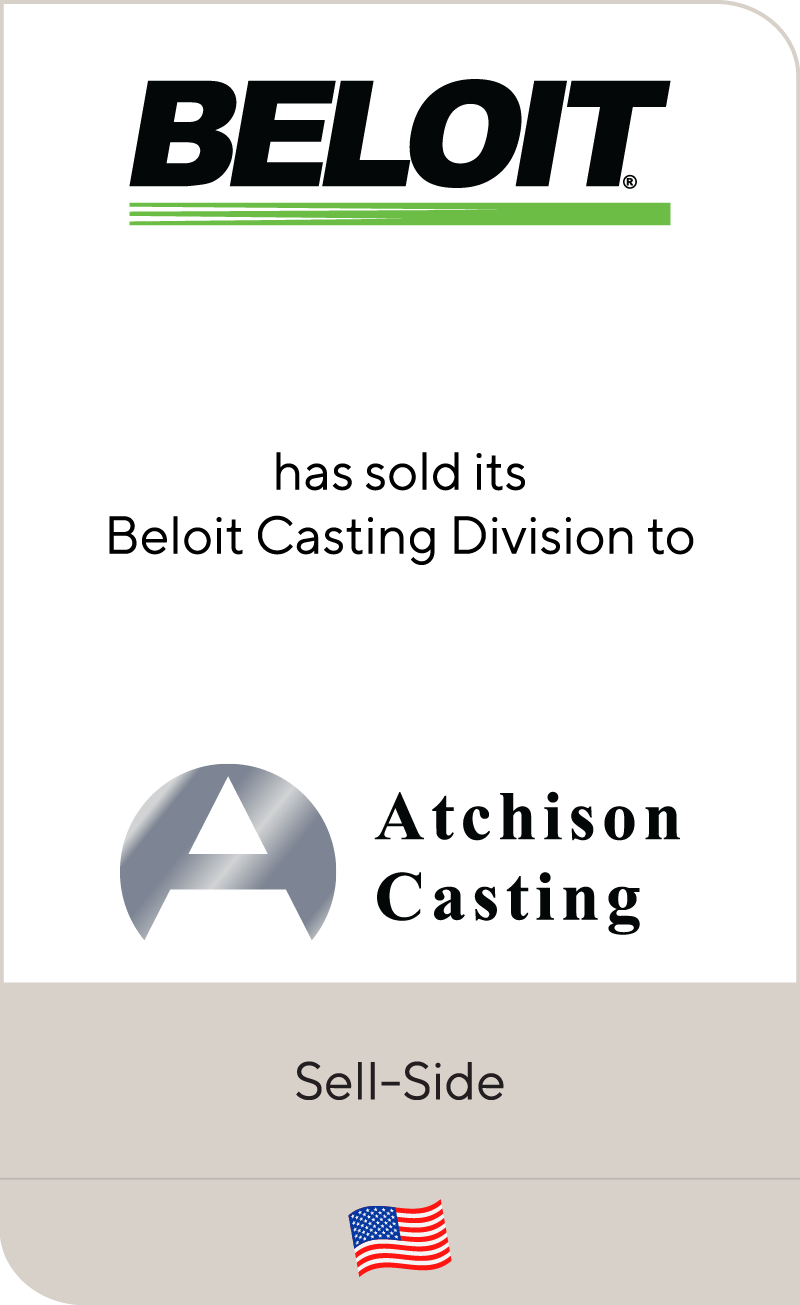 Beloit Corporation has sold Beloit Castings to Atchison Casting