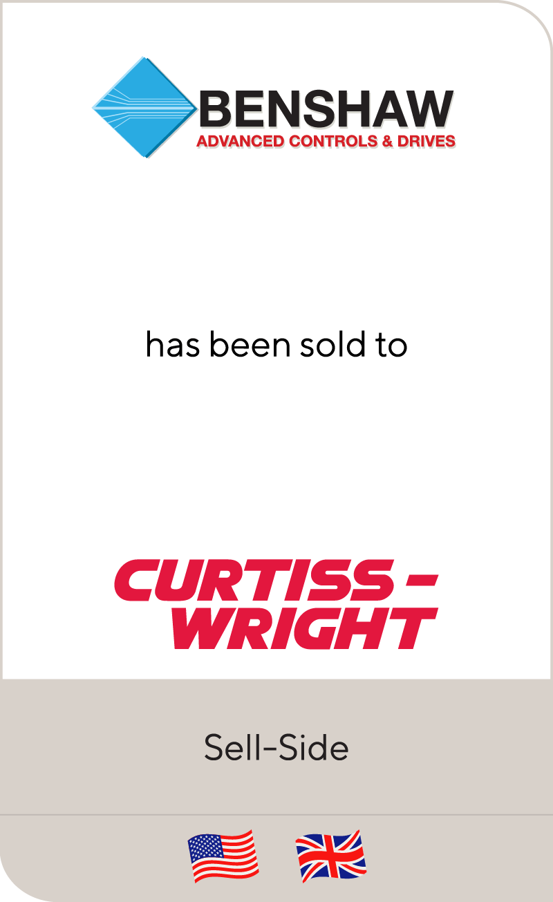 Benshaw has been sold to Curtiss-Wright Corporation