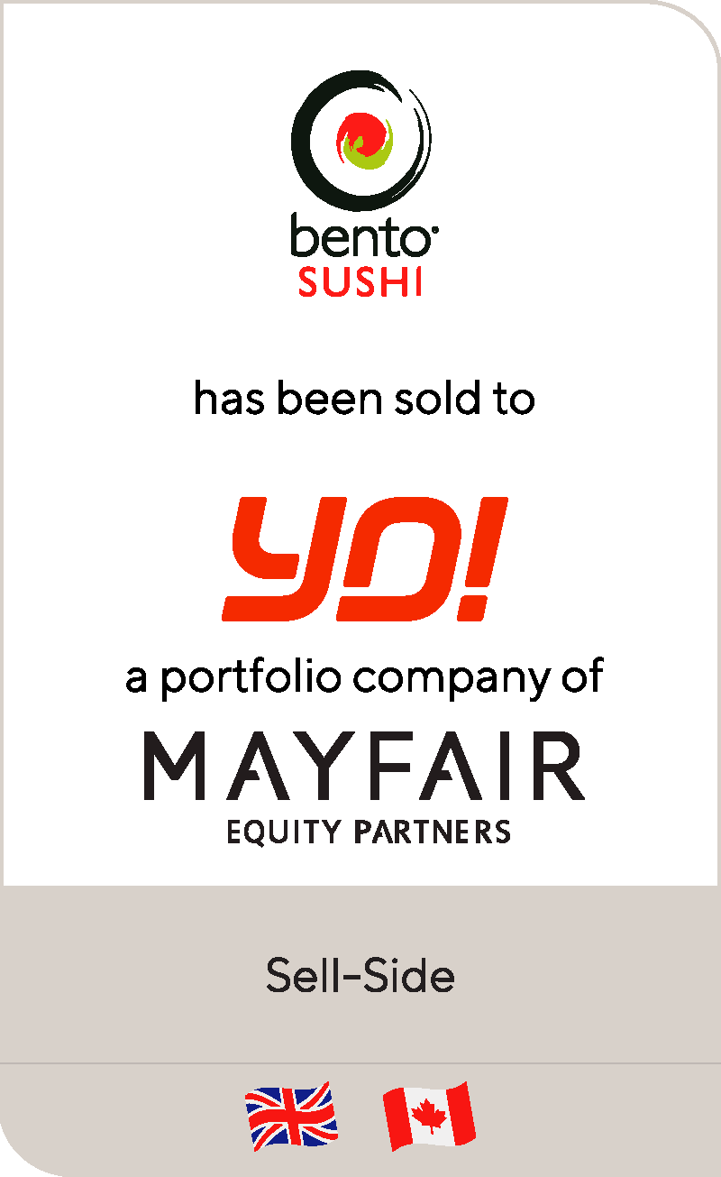 Bento Sushi has been sold to Yo! Sushi