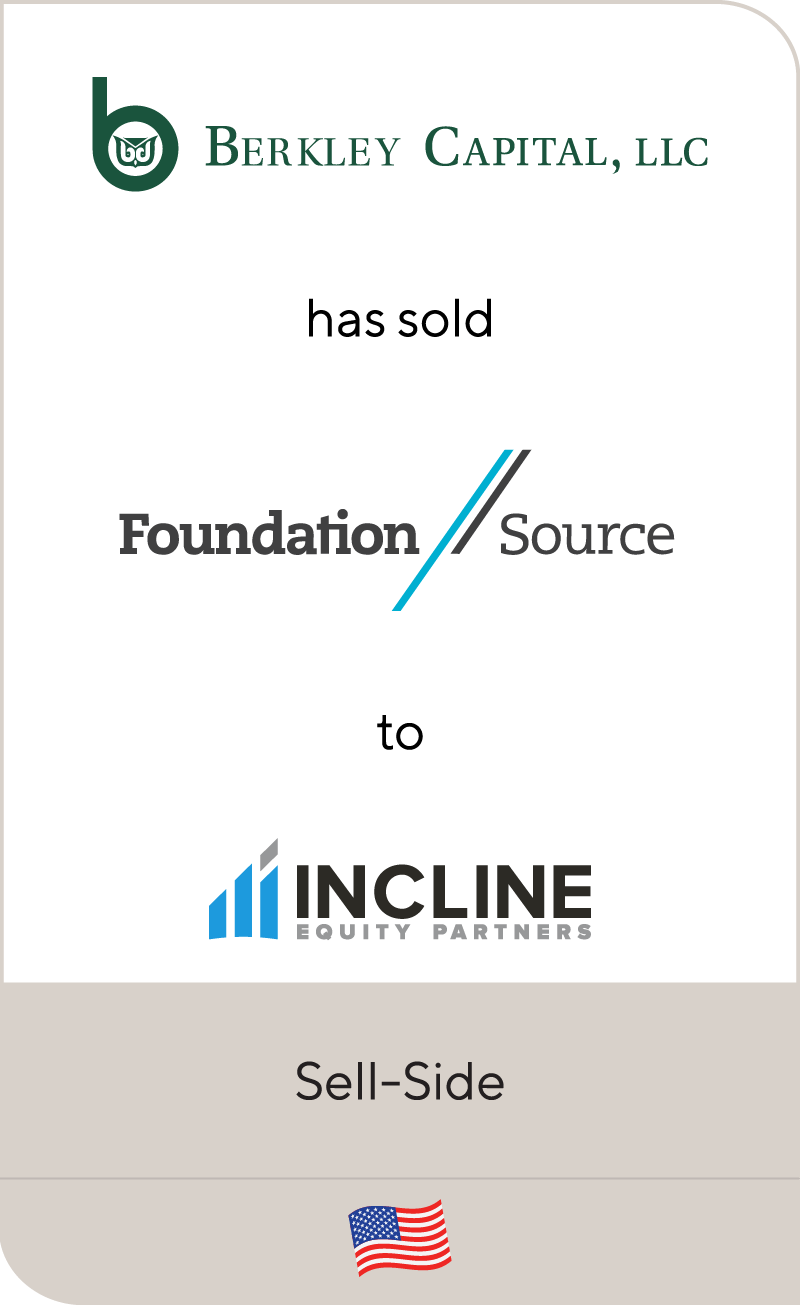 Berkley Capital LLC Foundation Source Incline Equity Partners 2020
