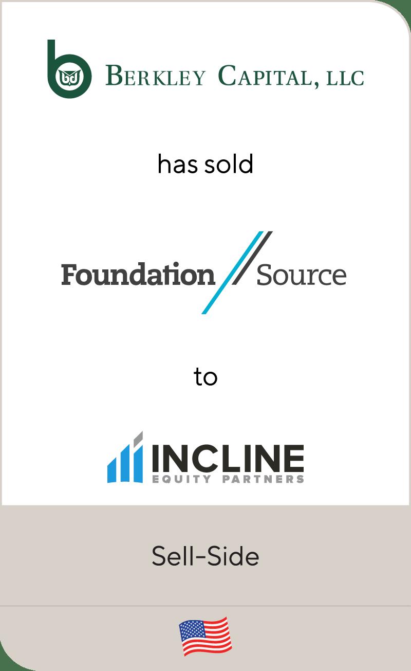 Berkley Capital LLC Foundation Source Incline Equity Partners 2020