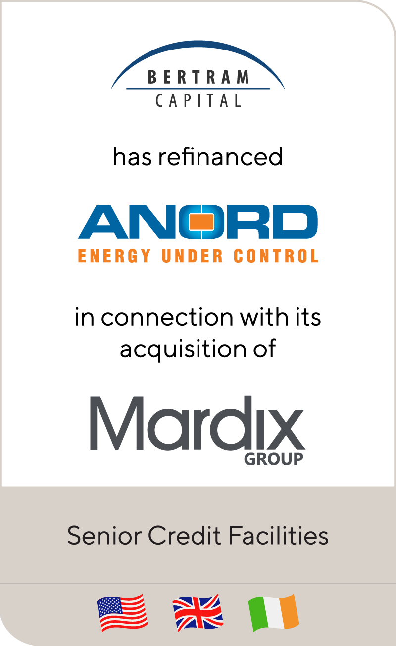 Bertram Capital has refinanced Anord and acquired Mardix Group