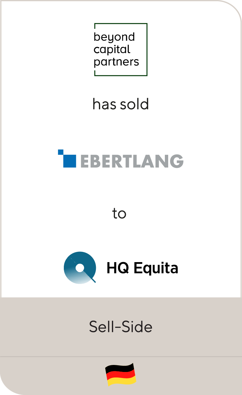 Beyond Capital Partners and founders have sold EBERTLANG Distribution GmbH