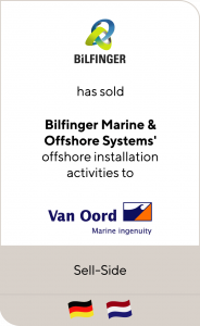 Bilfinger SE has sold its Polish and German offshore business units to VTC Group and the Dutch Van Oord Group