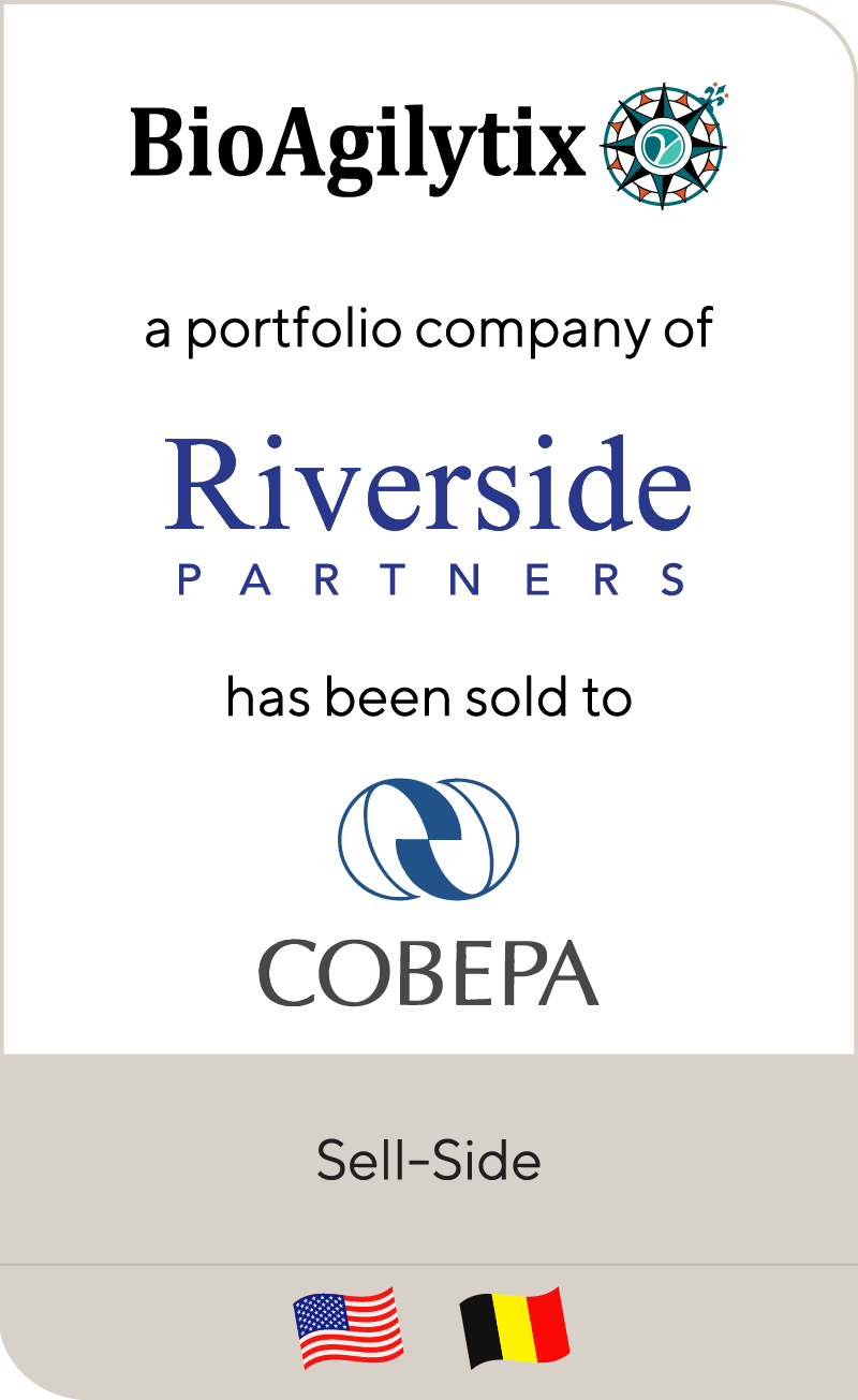 Riverside Partners has sold BioAgilytix to Cobepa