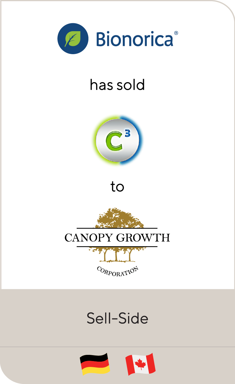 Bionorica has sold C³ to Canopy Growth