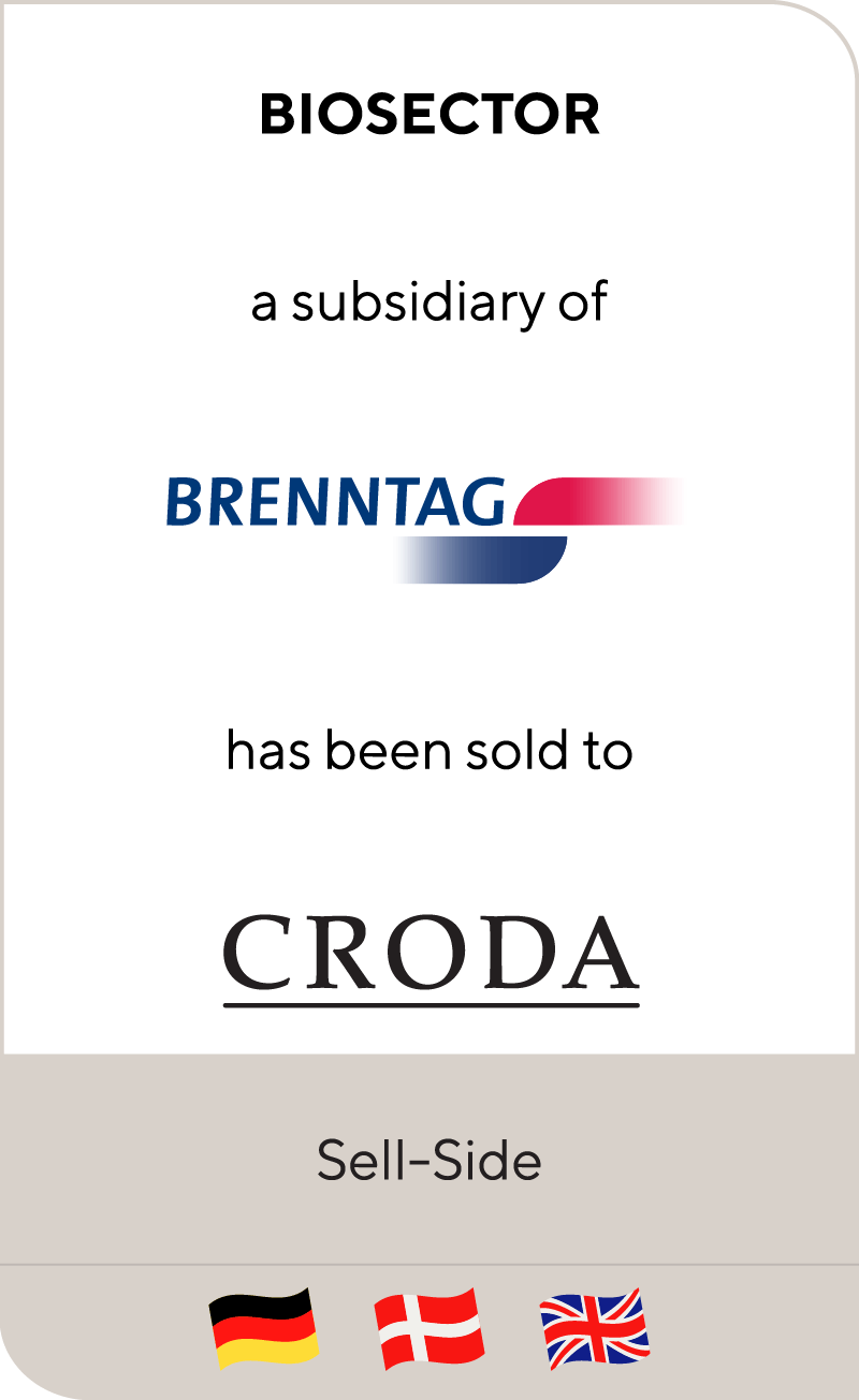 Biosector, a subsidiary of Brenntag, has been sold to Croda