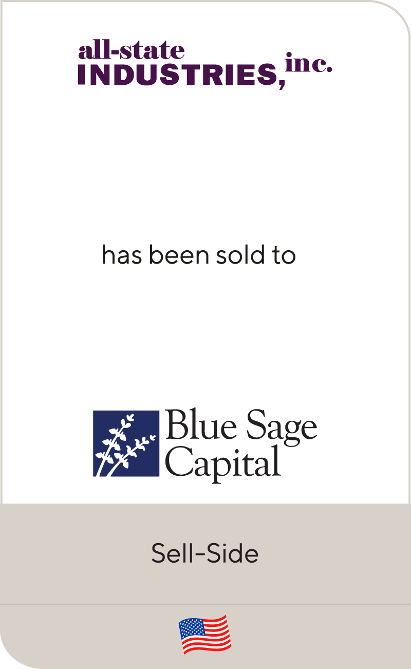 Blue Sage Capital Invests in All-State Industries