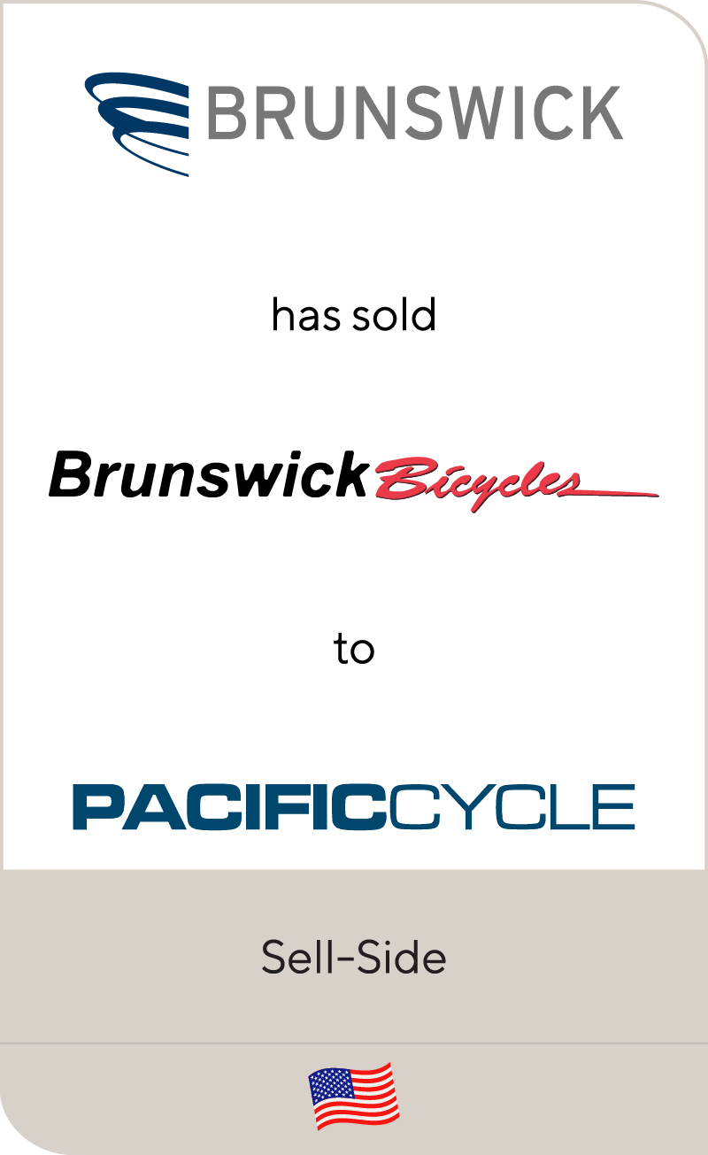 Brunswick Corporation has sold Brunswick Bicycles to Pacific Cycle