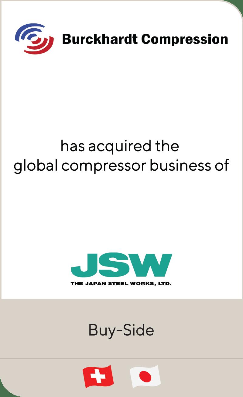 Burckhardt Compression Japan Steel Works 2020