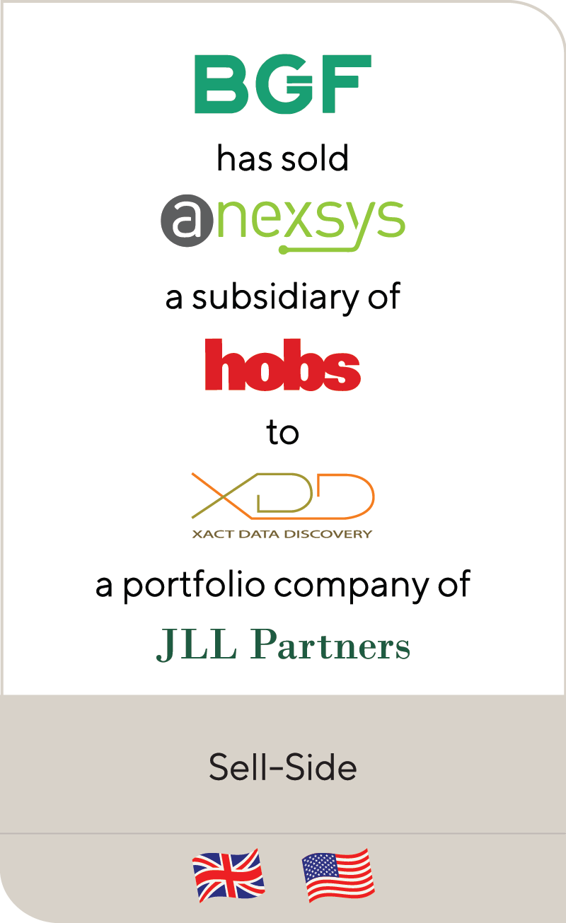 Business Growth Fund Anexsys Hobs Group Xact Data Discovery JLL Partners 2020