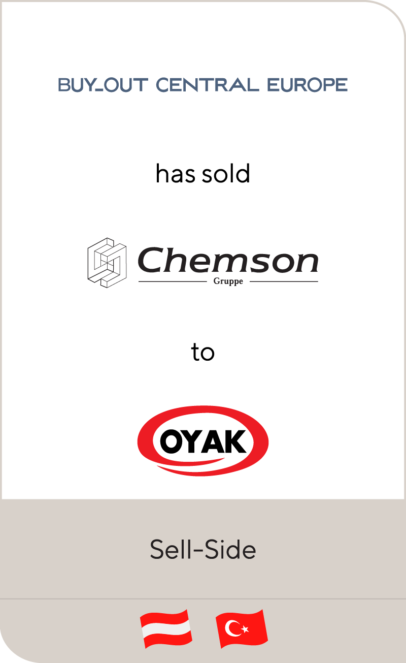 Buy-Out Central Europe II has sold Chemson Polymer-Additive to Ordu Yardimlasma Kurumu
