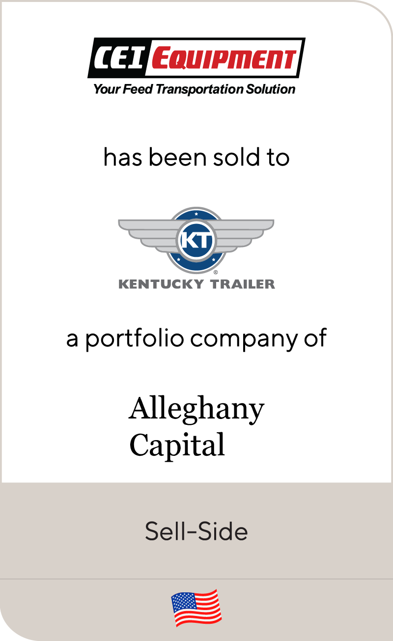 CEI Equipment has been sold to Kentucky Trailer, a portfolio company of Alleghany Capital