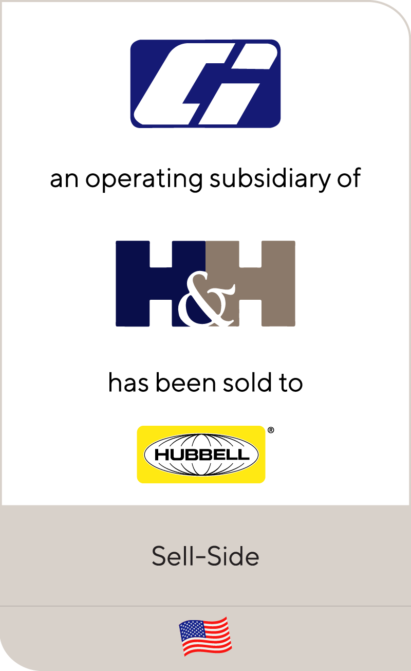 Continental Industries, an operating subsidiary of Handy & Harman, has been sold to Hubbell