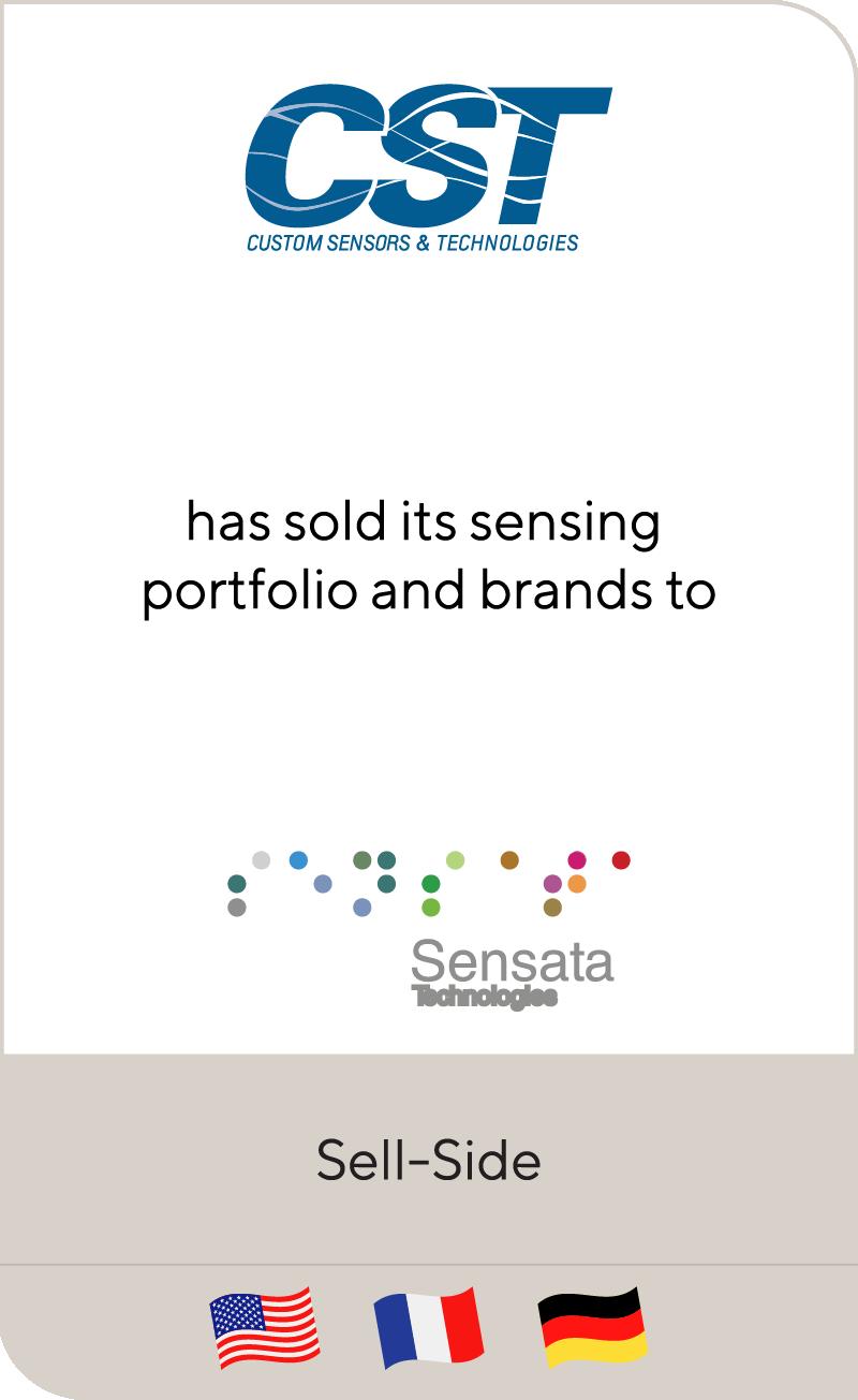 Custom Sensors & Technologies has sold its sensing portfolio and brands to Sensata Technologies