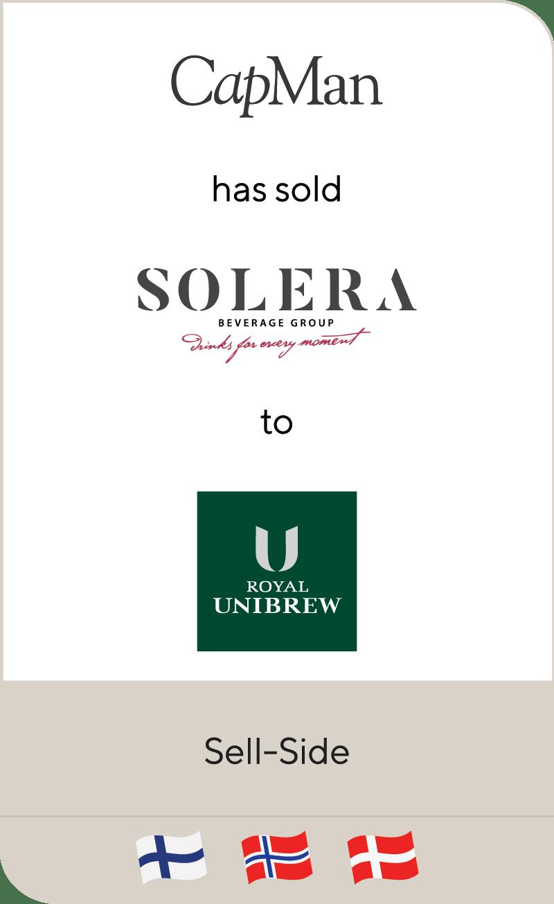 CapMan Solera Beverage Group Royal Unibrew 2021