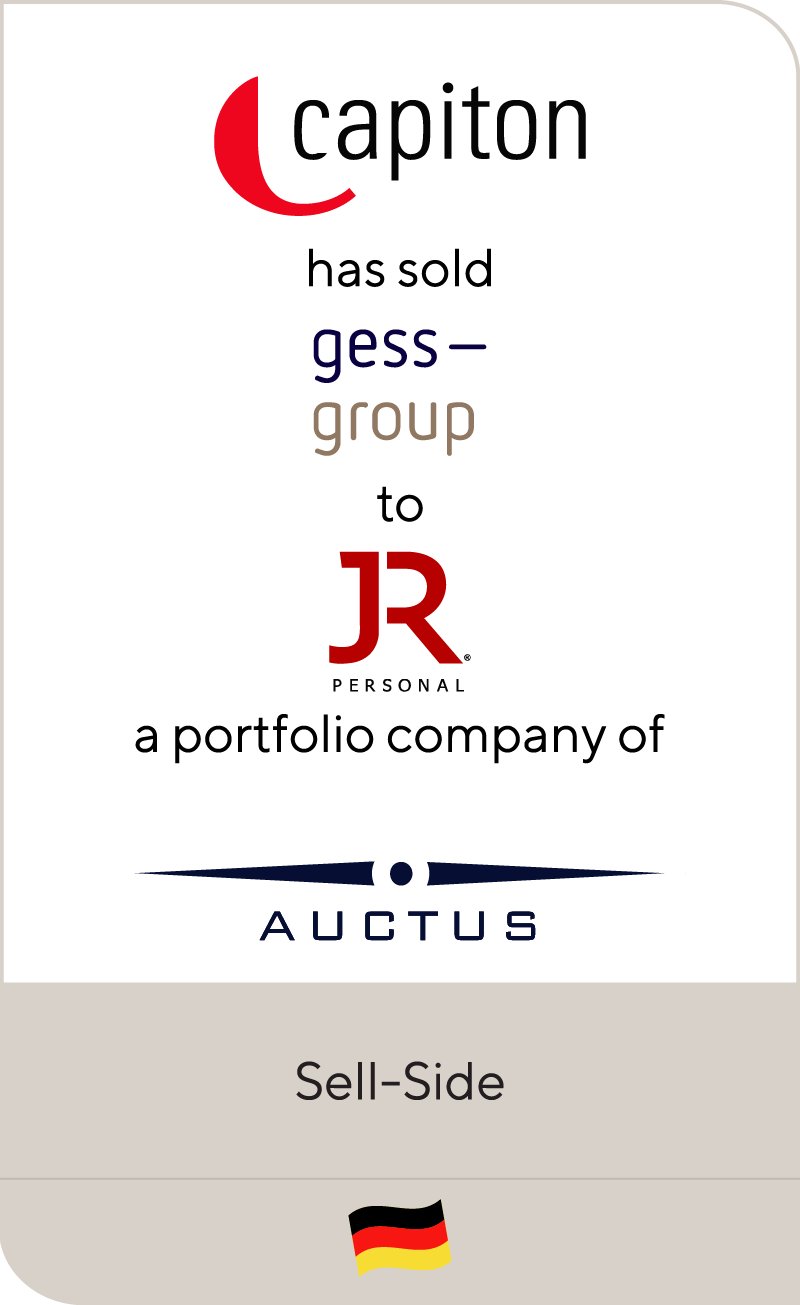 capiton has sold Gess Group to JR Holding a portfolio company of Auctus