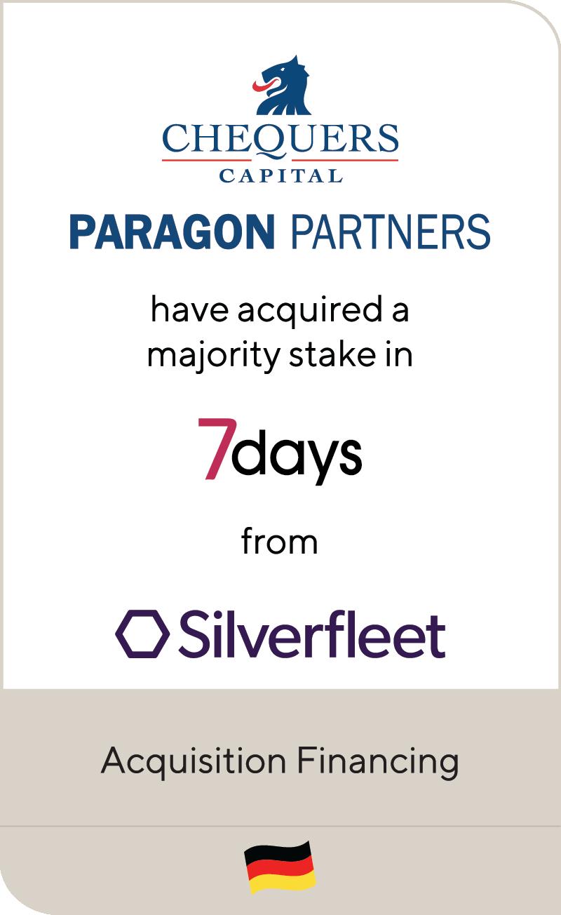Chequers Capital Paragon Partners 7days Silverfleet 2021