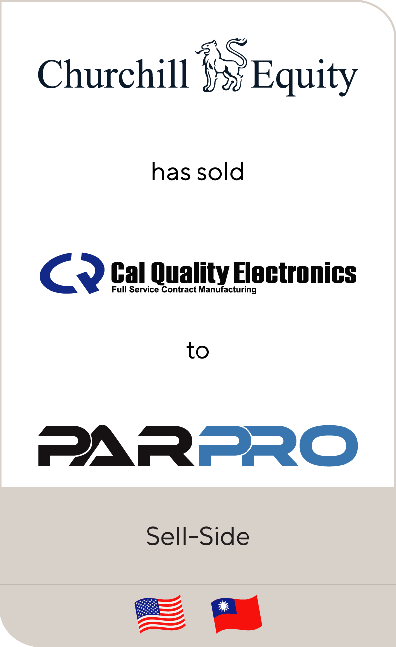 Churchill has sold Cal Quality to PARPRO 2016