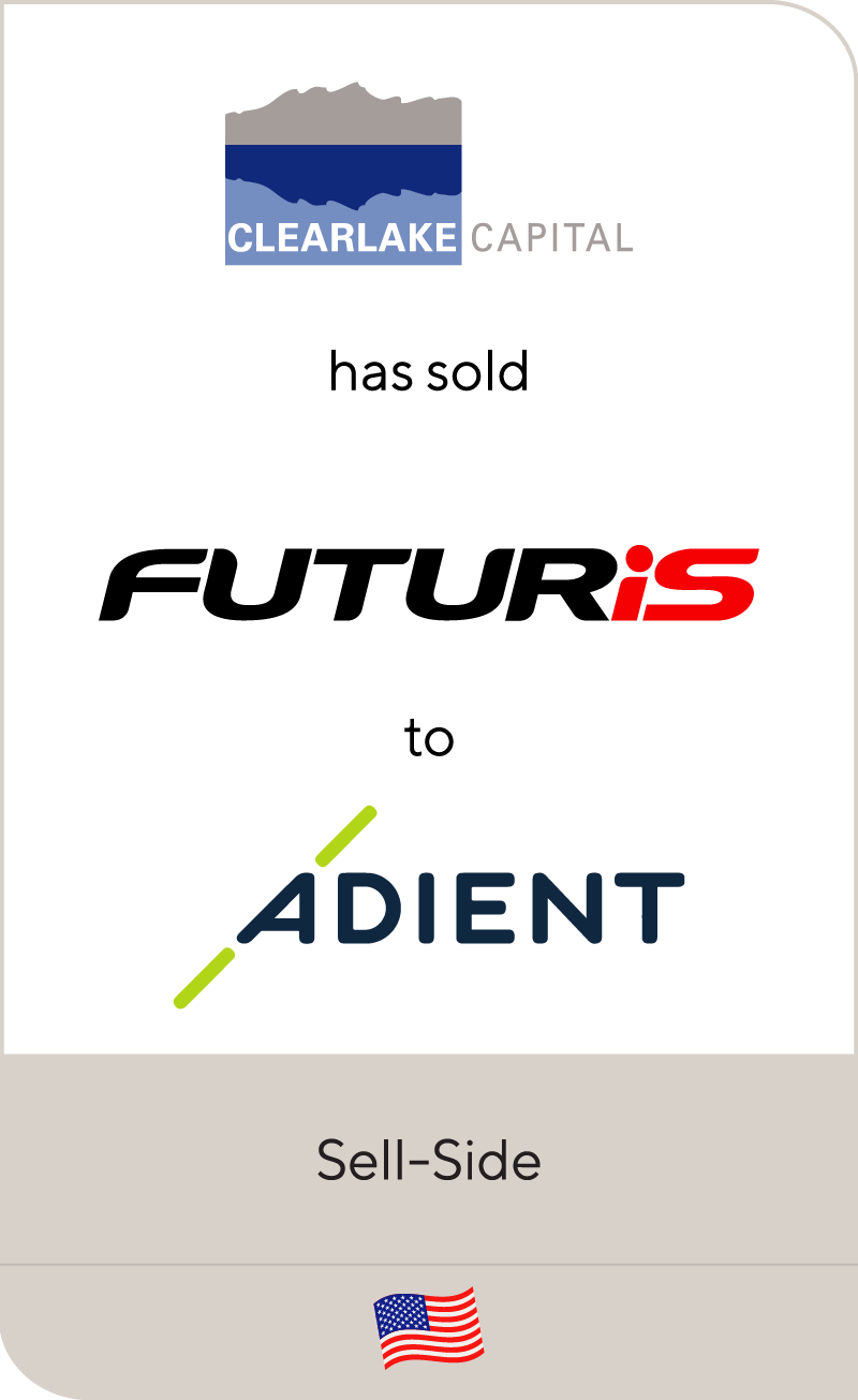 Clearlake Capital has sold Futuris Group to Adient