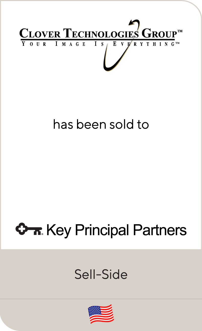 Clover Technologies Group has been sold to Key Principal Partners