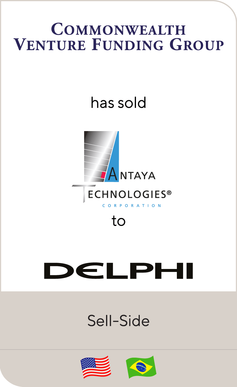 Commonwealth has sold Antaya to Delphi